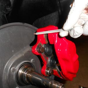 Toyota Disk Brake Conversion Marking_Dust_Plate