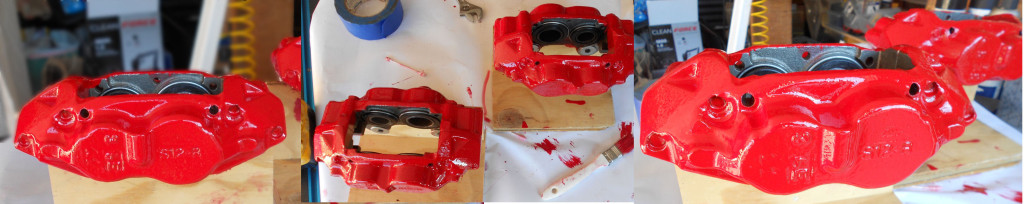 Toyota Disk Brake Conversion Painted Calipers
