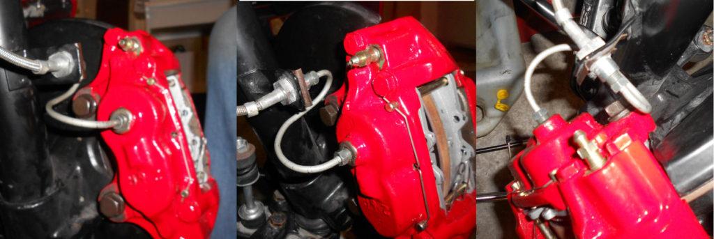 toyota disk brake conversion -  S-Line Installed