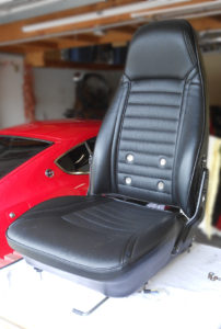 Datsun 240Z seat rebuild - Seat, new, competed, top_front view
