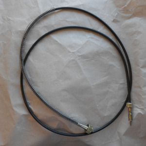 New speedo cable with wire strain-relief spring installed
