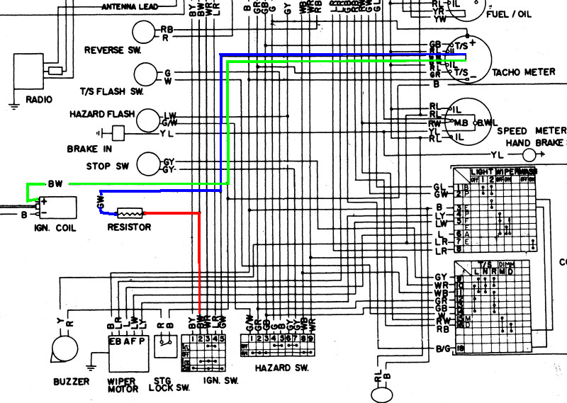 TachWiring datsun 240z electronic points woodworkerb 240z wiring diagram at webbmarketing.co