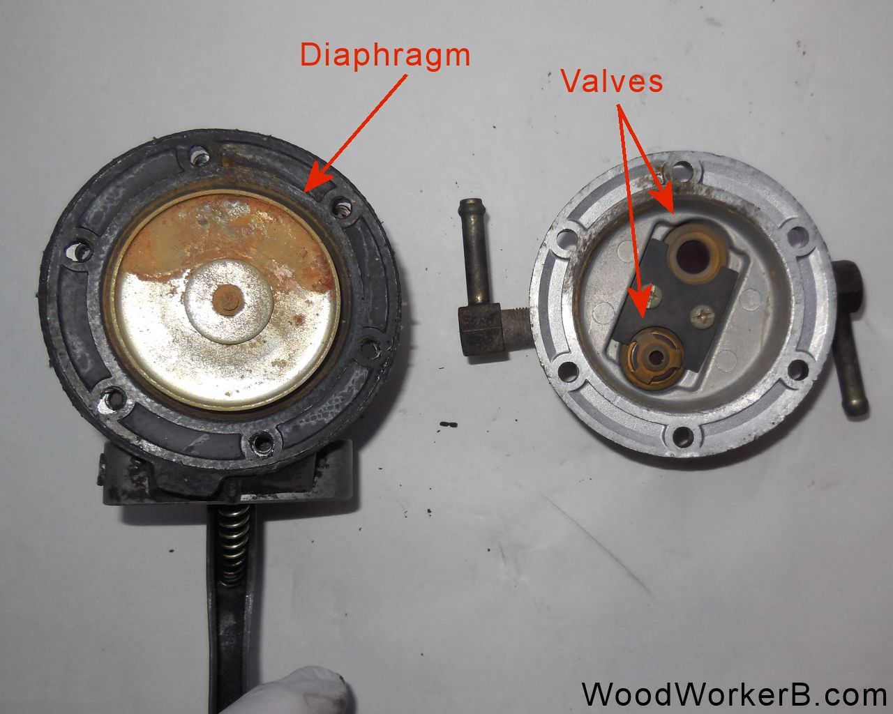 FuelPumpOpened datsun 240z mechanical fuel pump rebuild woodworkerb  at webbmarketing.co