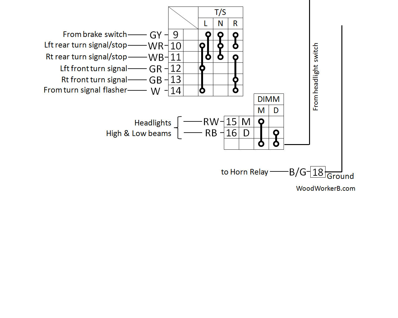240z Multifunction Switches Woodworkerb Single Headlight Schematic Click Image For Larger View