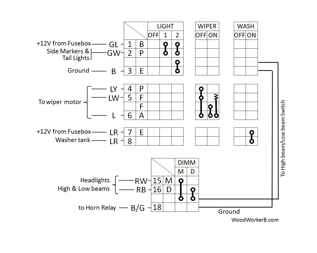 240z Multifunction Switches Woodworkerb 1973 Nissan Wiring Diagram